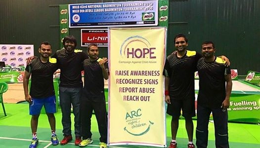 ARC's team wins the National Badminton Tournament and donates prize money for the HOPE Campaign
