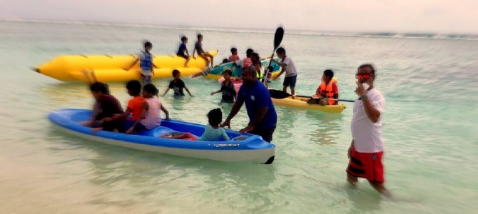 ARC commences a water sports programme for children of Fiyavathi in partnership with Beach Club Maldives